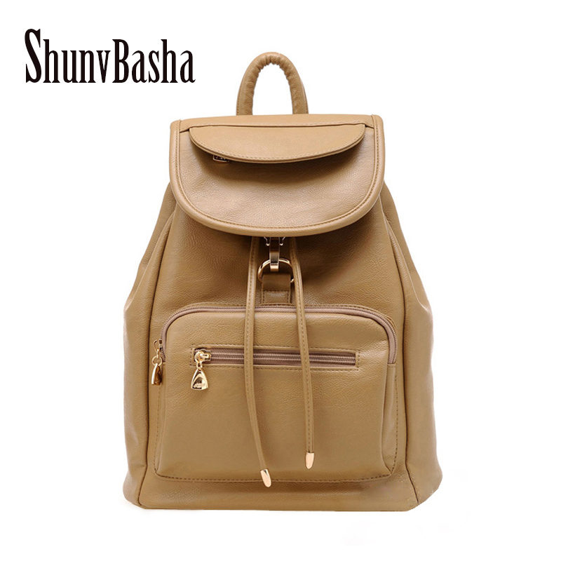 Women Leather Backpacks School Bags Travel Shoulder Bag