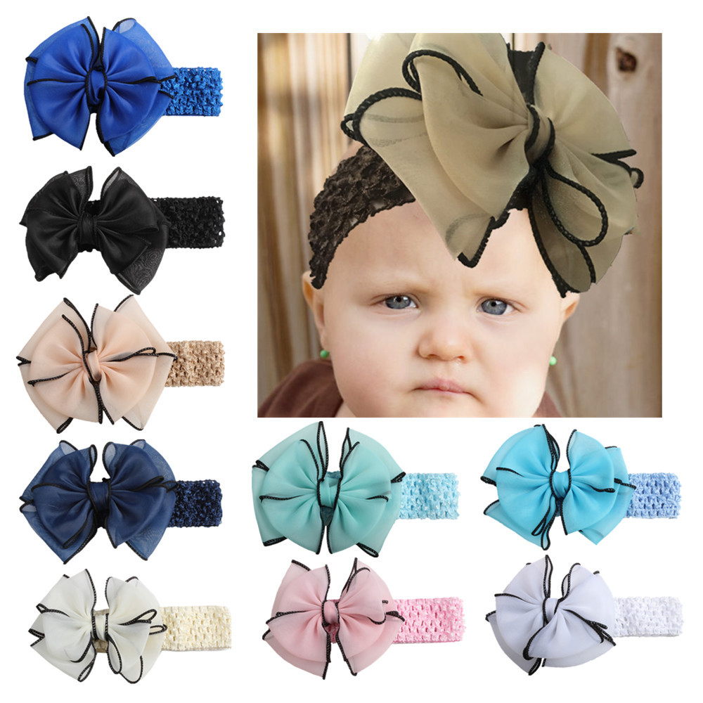 2017 New Design Cute Headband Bowknot Stretch Hairband Photo Prop Gift halloween accessories cabelo meninadrop shopping