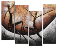 hand painted nude woman oil painting on canvas brown figure 4 panels wall pictures for living room art sets