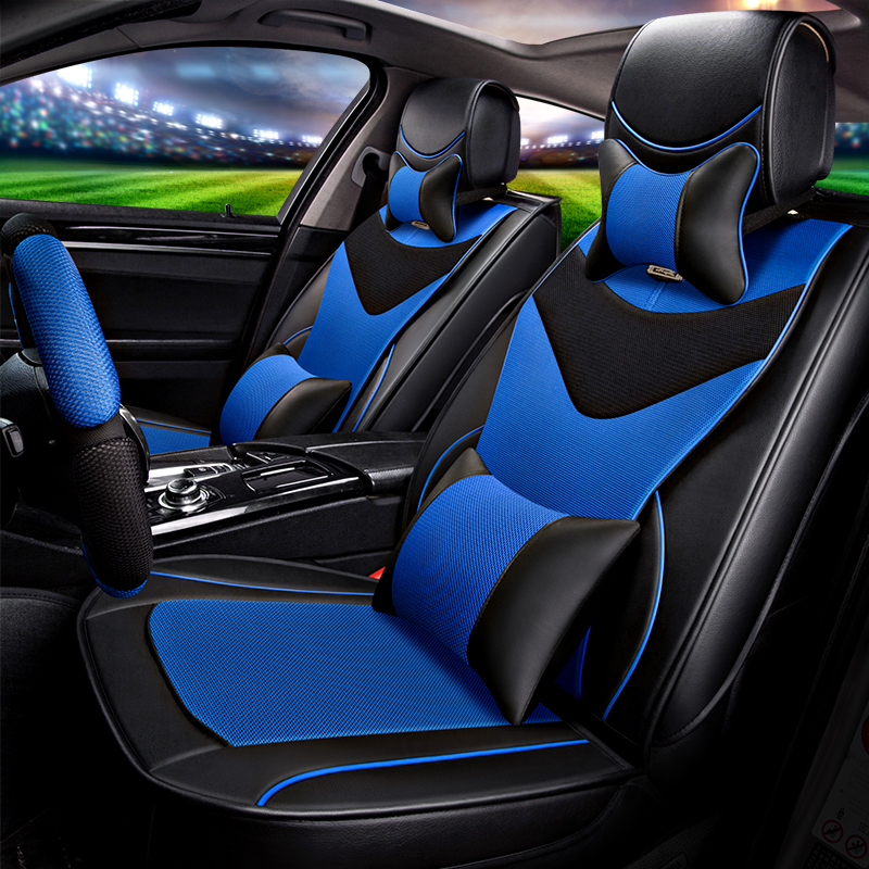 2017New 3D 5Seats( Front+Rear) Car Seat Covers For Audi