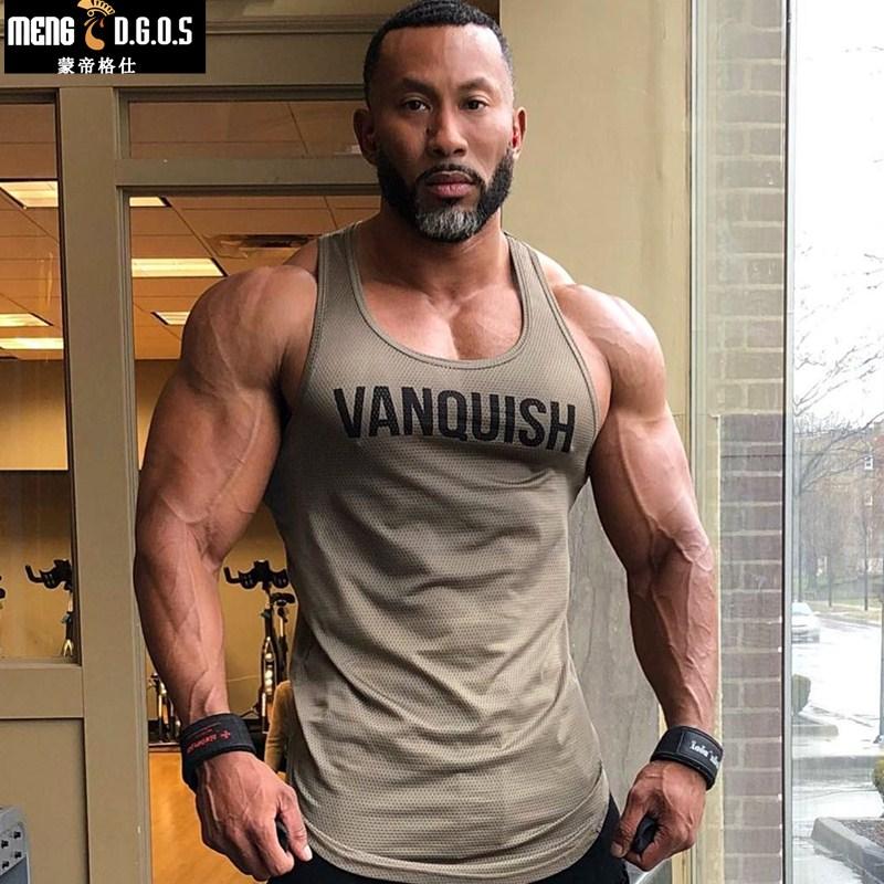 2018 Gyms Tank Tops Men Elastic Cotton Vest O-Neck Gyms Tank Top Men Sleeveless Shirts Muscle Men Fitness Tops