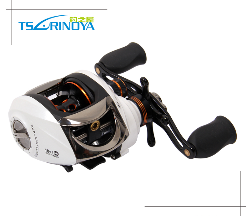 TSURINOYA Water Drop Fishing Reel 10+1 Bearings 2 Control Systems Right Left Hand Bait Casting Reel Gear Ratio 6.3:1 Salt Water mofem 114 prim cer