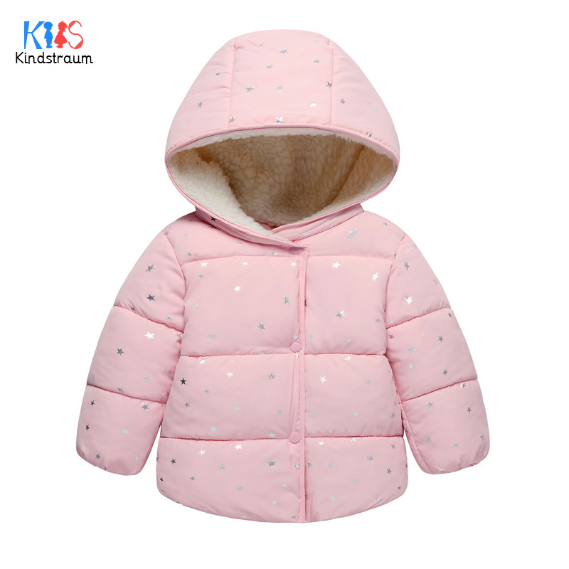 Kindstraum 2017 Girls Thick Cotton Coats Winter Children Lamb Down Clothes Hooded Solid Jackets for Baby.RC1495 casual 2016 winter jacket for boys warm jackets coats outerwears thick hooded down cotton jackets for children boy winter parkas