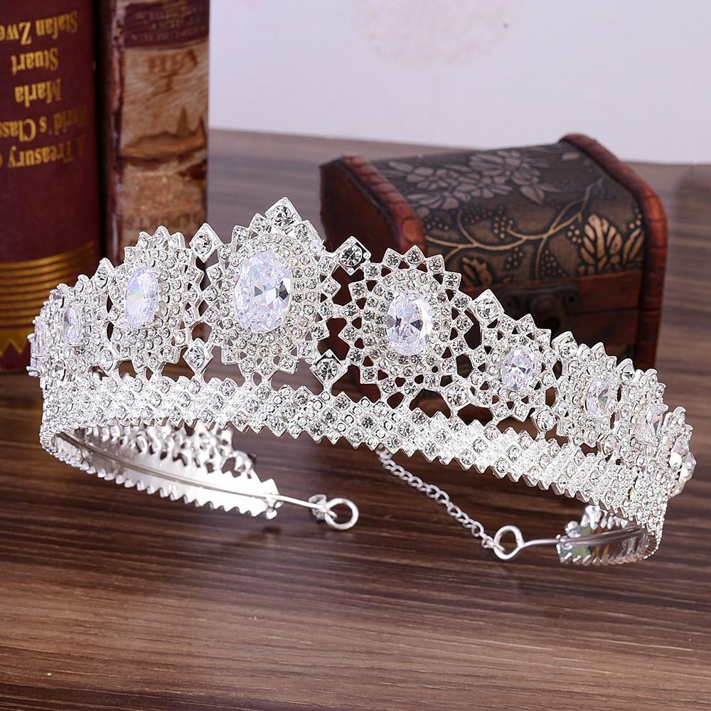 Neu Hochzeit Braut Prinzessin Strass Tiara Krone Stirnband Haar Zubehör