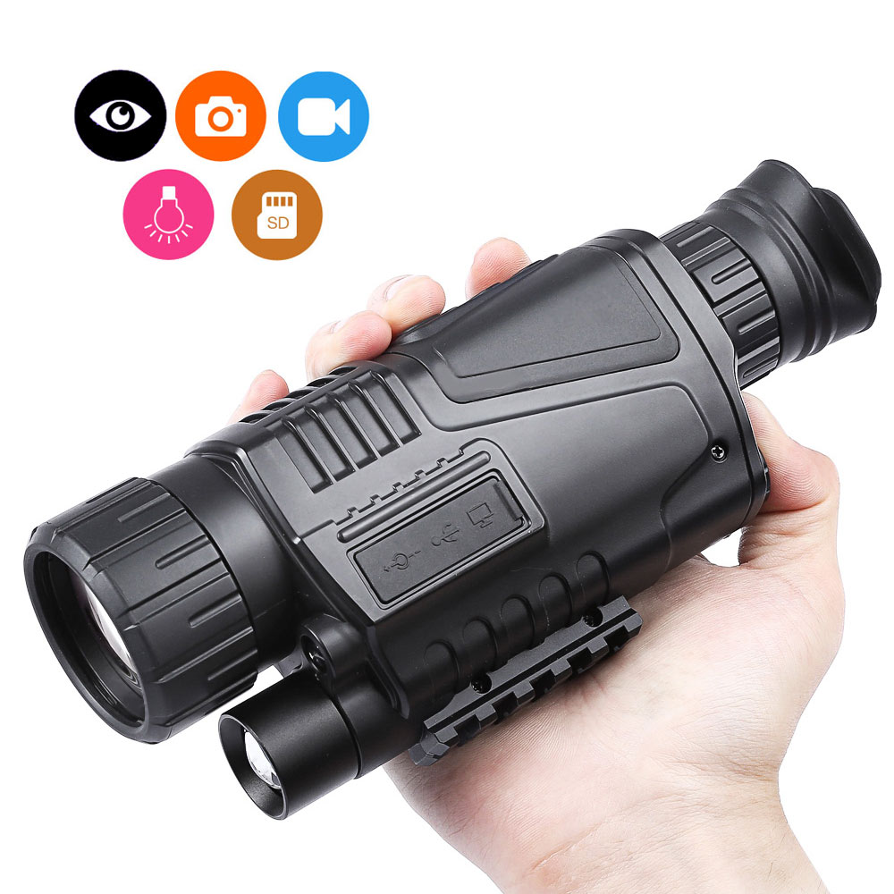 5x40 200m night vision telescope with digital video camera infrared function for hunting tactical optics monocular