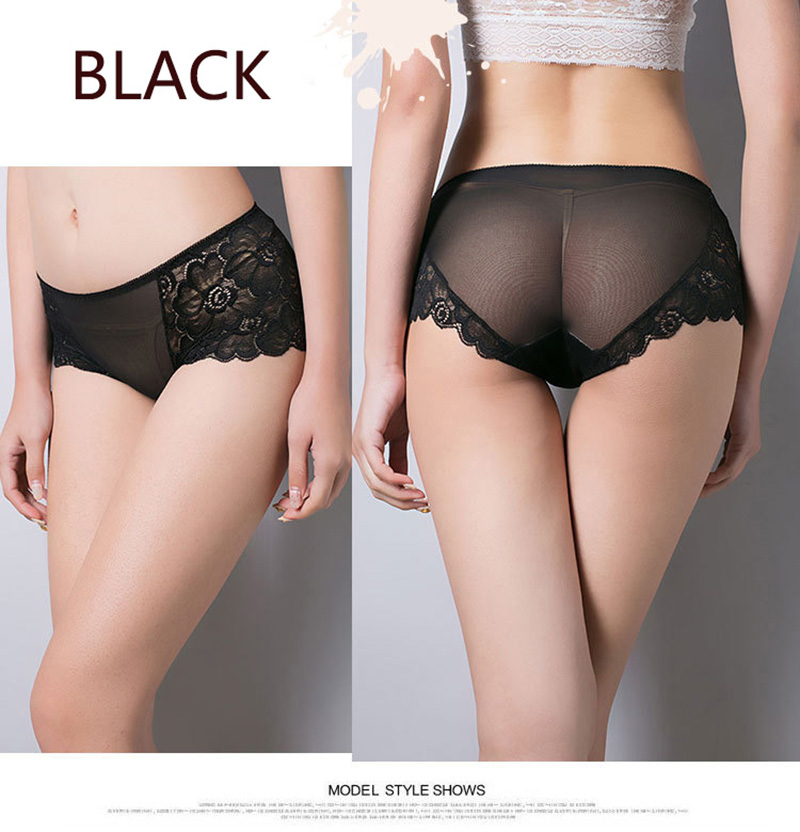 Women's Underwear, Sexy Lace Panties, Hollow Out Briefs, Mid Rise, Female Lingerie Underpants 26