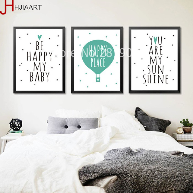 Nordic Minimalist Art Love Quotes Canvas Poster Prints Living Room