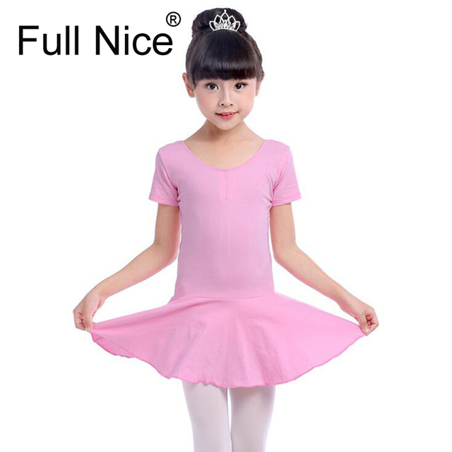 de1366eeb103 Girls Cap Short Sleeve Leotard Ballet Dance Spandex Lycra Leotard ...