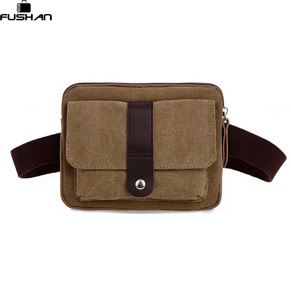 new 2017 fashion canvas small men messenger bags Multifunction Waist Packs bag casual Hasp Cover mini men's travel bags mlf mlf1015 casual multifunction canvas waist bag for men black