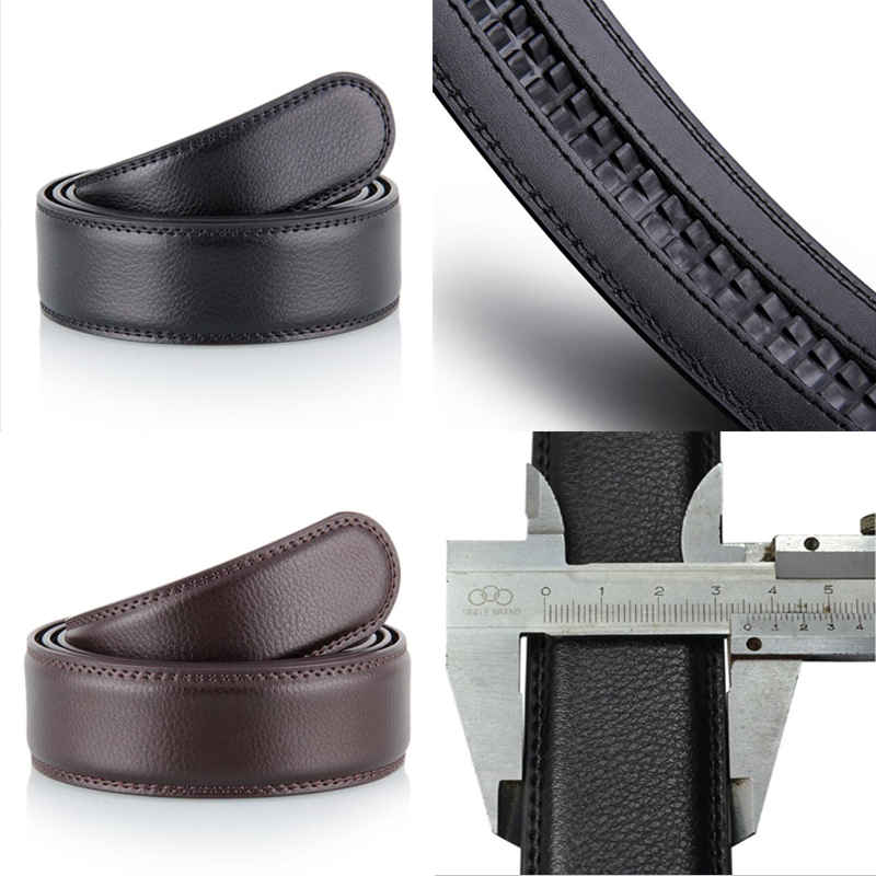 New Male Automatic Buckle Belts No Buckle Belt Brand Men High Quality Male Genuine Strap Jeans Pu Belt  Mens Belts Luxury 3.5cm