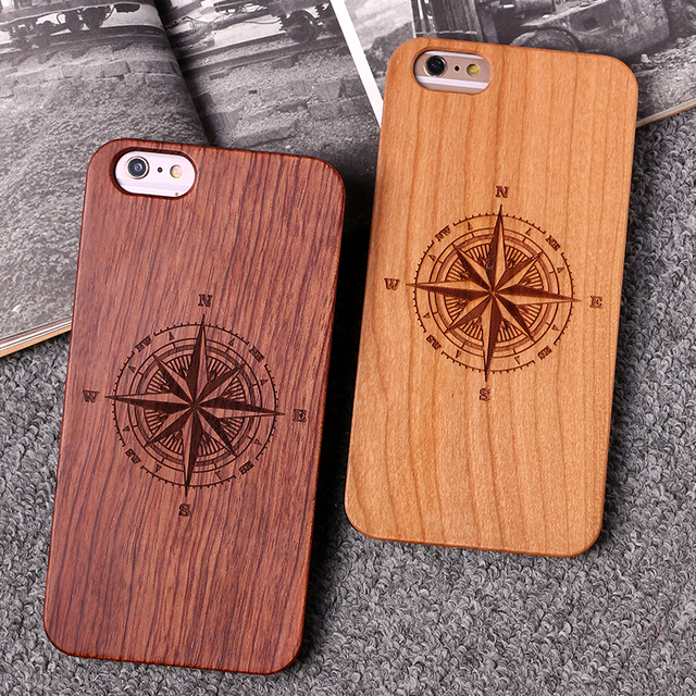 US $4 54 35% OFF|For iPhone 8 8Plus X 6 6S 7 7Plus XS Max Dandelion Deer  Compass Cartoon Floral Wood Case For SAMSUNG S7 Edge S8 plus S9 Plus -in
