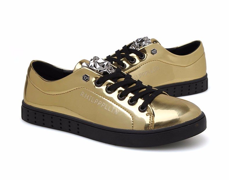 KUYUPP 2016 High Quality PU Patent Leather Men Flats Shoes Leopard Head Sequined Skate Shoes Round Toe Lace Up Men Flat Heel Y31 (40)