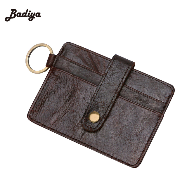 new vintage fashion men id holders solid color card holder pack card anti theft magnetic - Magnetic Card Holder