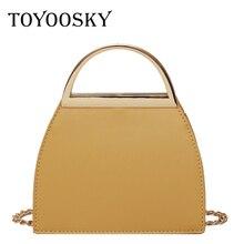 TOYOOSKY Fashion Brand Women Saddle Bag Vintage Leather Shoulder Bag Metal Handle Female Hasp Small Handbag Crossbody Bag цена 2017