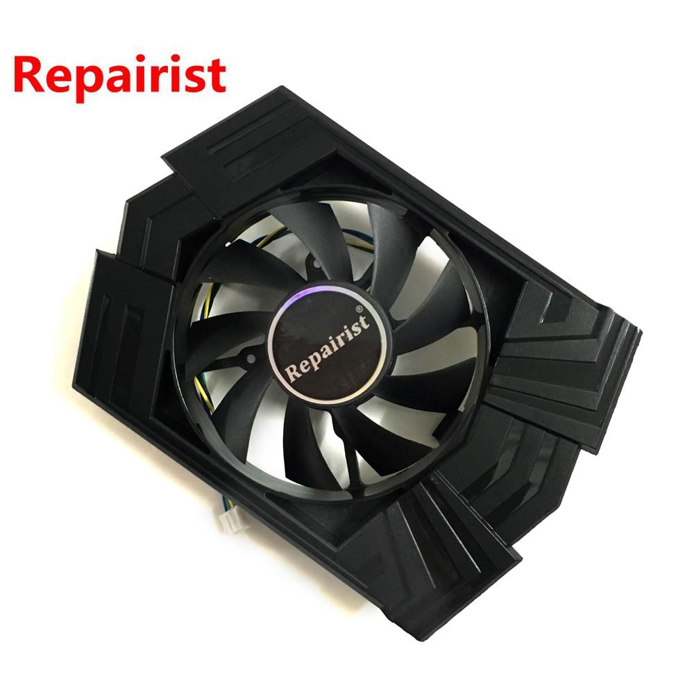 Spedizione gratuita GPU VGA di raffreddamento fan FD8015U12S 12 V 0.5A Per ASUS GTX 750TI video di raffreddamento della scheda grafica GTX750TI