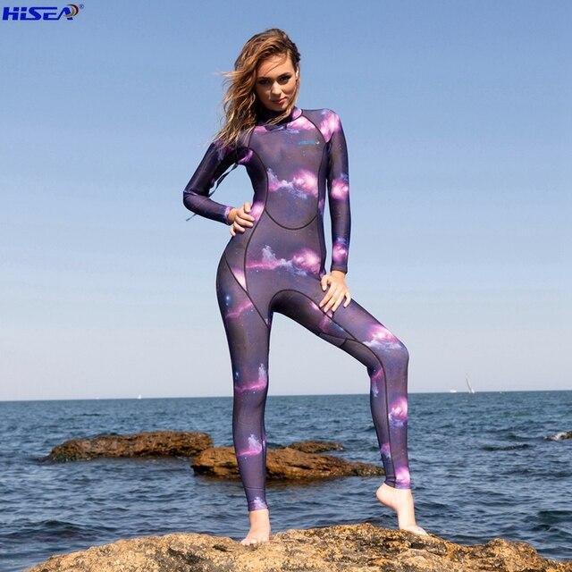 e888b43e6f85 € 49.06 |Hisea nuevas mujeres 3mm elástica de neopreno traje de equipo de  buceo natación surf pesca submarina traje de triatlón traje de neopreno ...