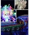 Colorido 10 M 100 LEDs luz de natal decoração de Cristmas Festival Twinkle cordas lâmpada 220 V ue
