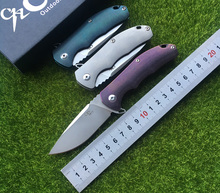 CH 3504 2017 New Product titanium handle AUS-8 blade Outdoor Flipper folding knife camping hunting pocket fruit knives EDC tool