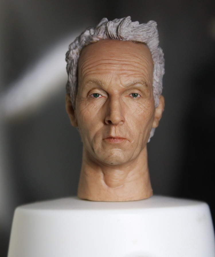 ФОТО 1/6 scale figure doll head.Saw Tobin Bell head shape with neck ver.doll accessories for DIY12