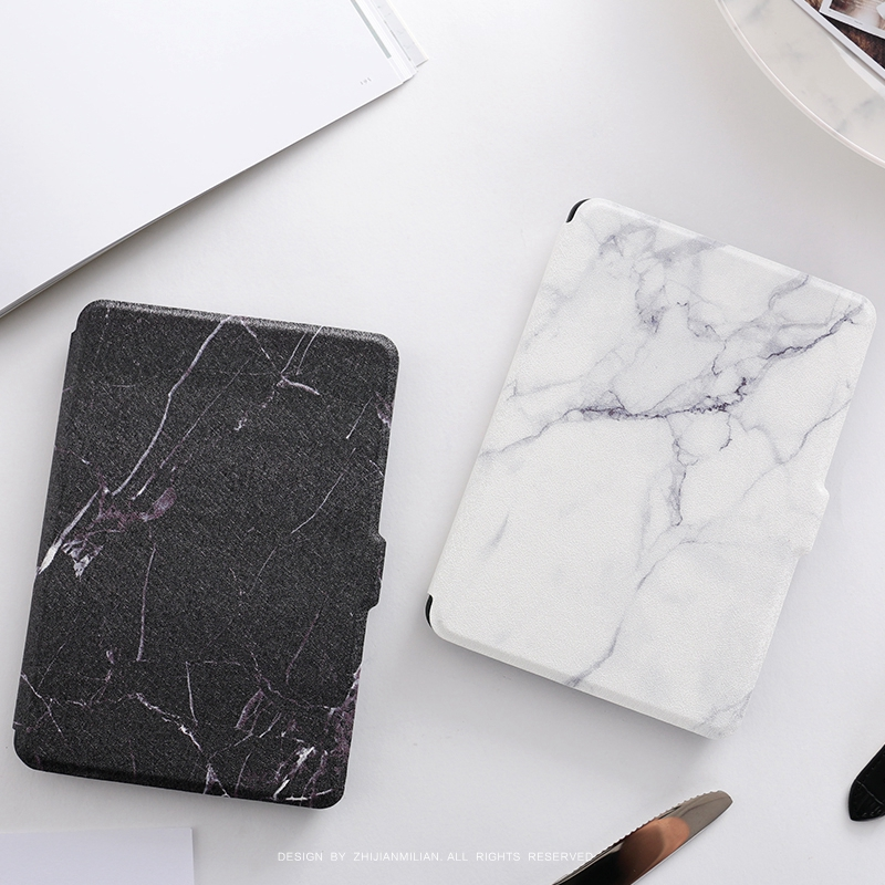 Black White Marble Magnet PU Flip Cover for Amazon Kindle Paperwhite 1 2 3 449 558 Case 6 inch Ebook Tablet Case Leather Case pink marble grain magnet pu flip cover for amazon kindle paperwhite 1 2 3 449 558 case 6 inch ebook tablet case leather case