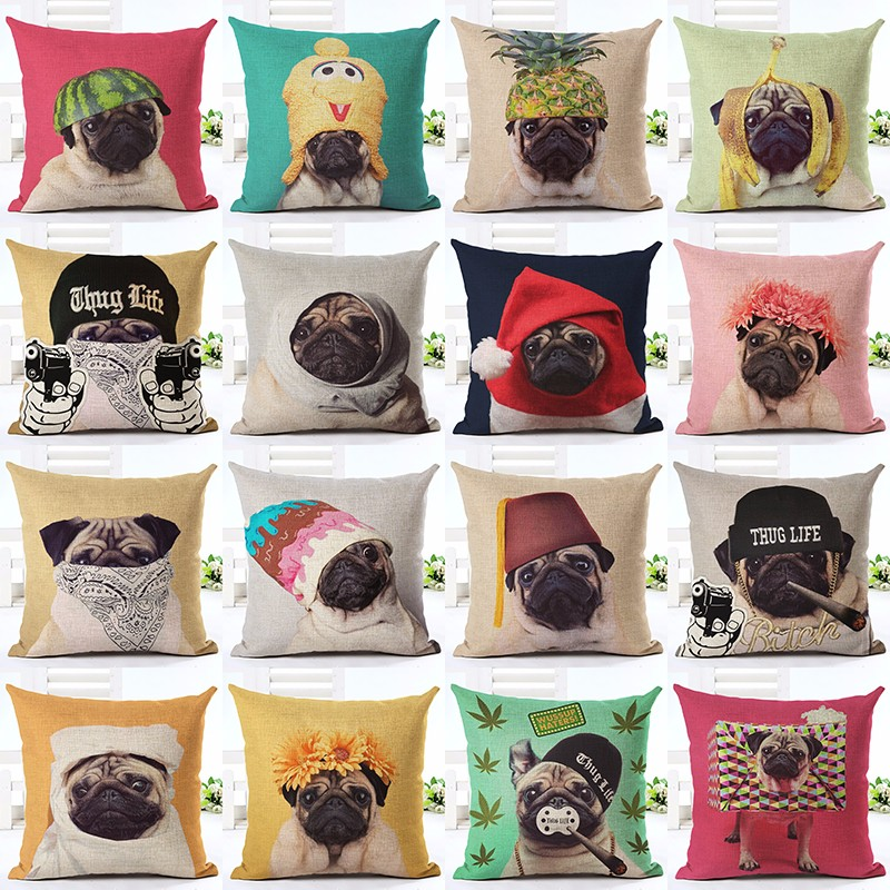 Animal cushion cover Dog for children Decorative Cushion Covers for Sofa Throw Pillow Ca ...