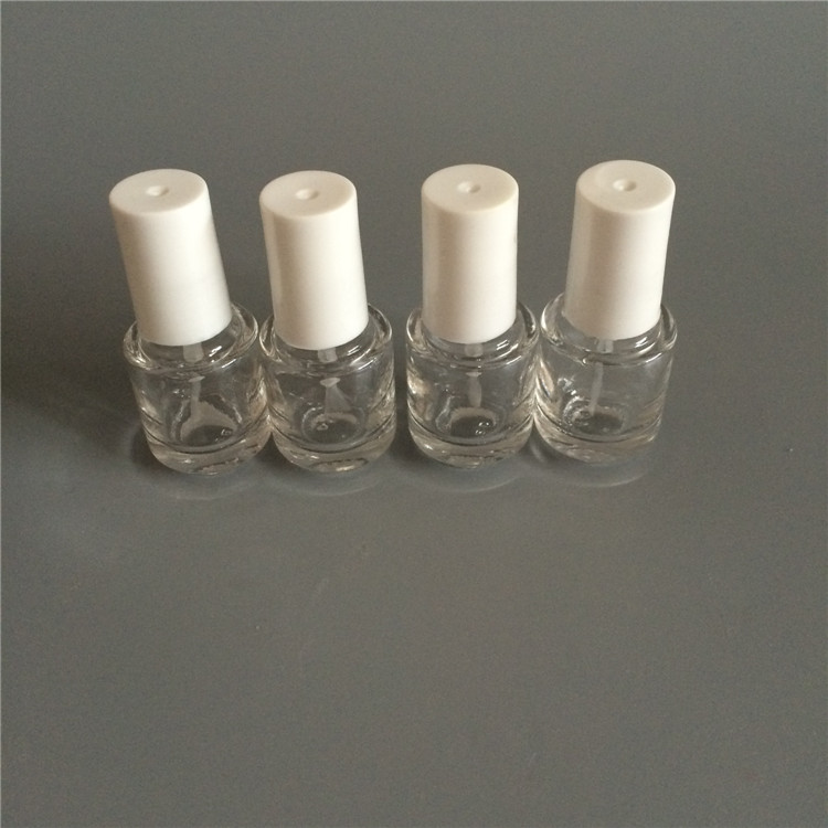 Newest 10pcs/lot 5ml/cc Empty Glass Nail Polished Oil Bottles With White Cap With Brush Cosmetic Nail Oil Container Wholesale