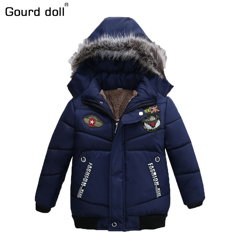 Подробнее о 3-7T New Fashion Patchwork Boys Jacket&Outwear Warm hooded Winter jackets for boy Girls coat Children Winter Clothing Boys Coat new 2017 baby boys children outerwear coat fashion kids jackets for boy girls winter jacket warm hooded children clothing