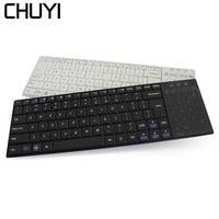 CHUYI Professional Ultra slim Wireless Scissor Keyboard Bluetooth 3.0 Keyboard TouchPad Teclado for iPad Series iOS System Phone