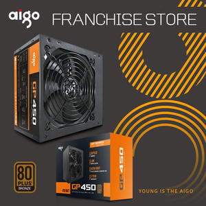 Aigo GP450 Active Power 80PLUS BRONZE Desktop Power Supply E-sports Rated power 450W. Maximum 600W computer power