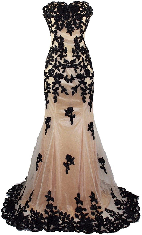 Robe De Soiree Ling Prom Dresses 2018 Mermaid Sweetheart Black ...