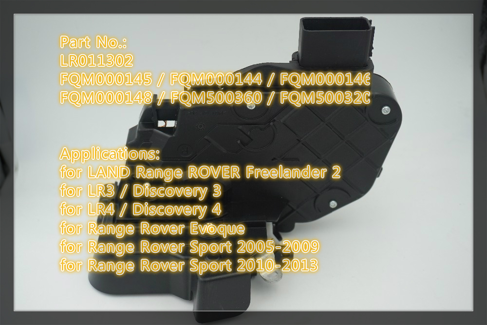 LR011302 FQM500320 auto rear right door latch lock actuator for Land Range Evoque Freelander 2 Discovery