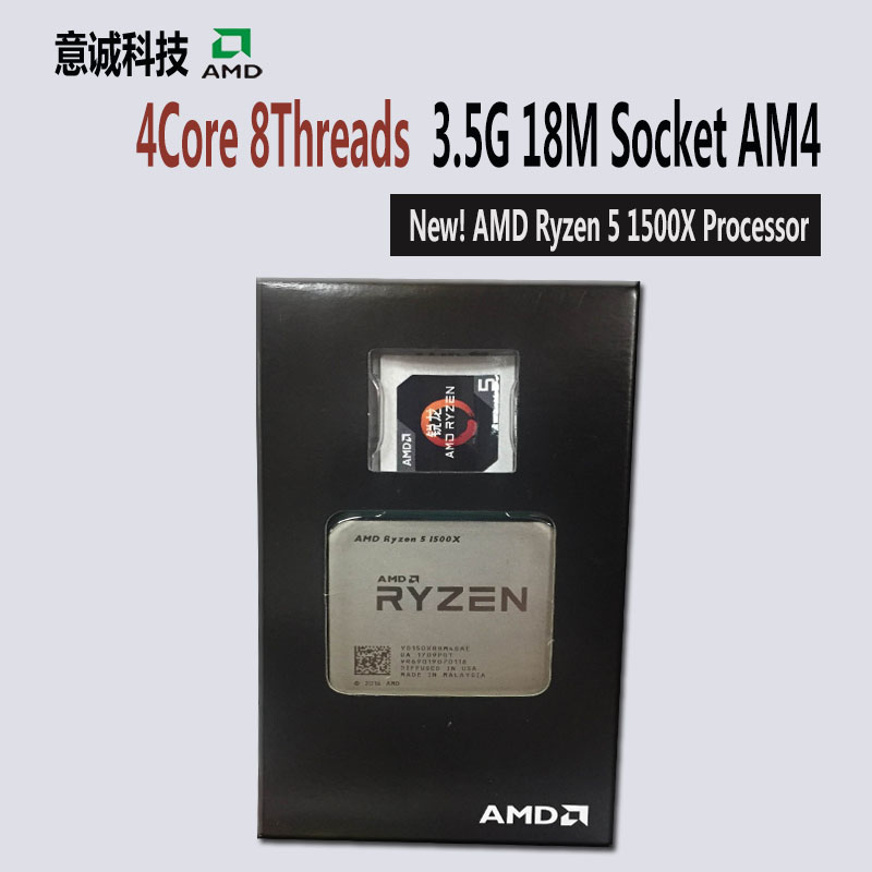 AMD Ryzen R5 1500X CPU Processor 4Core 8Threads Socket AM4 3 5GHz TDP 65W 18MB Cache