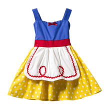 Baby Girls Summer Snow White Apron Waitress Princess Dresses