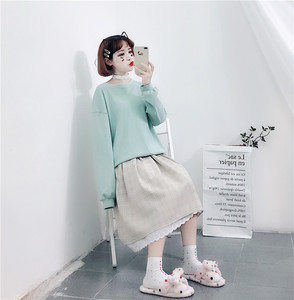 Image 3 - 2020 Japanese Soft Girl kawaii Skirts Women Summer Lolita High Waist Vintage Skirt Cute Plaid Lace A Line Tutu Midi Skirt