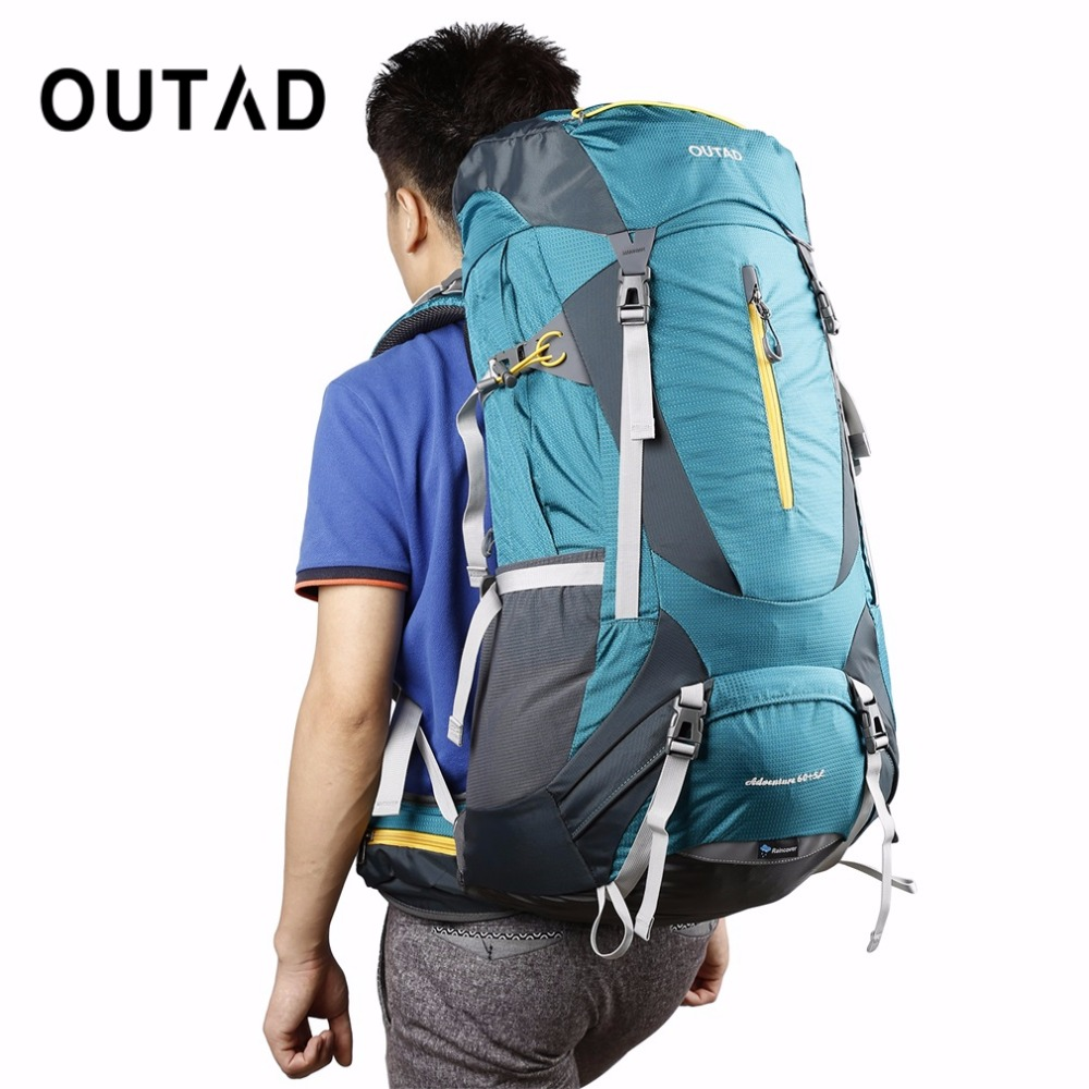 OUTAD 60+5L Outdoor Water Resistant Nylon Sport Backpack Hiking Bag Camping Travel Pack Mountaineer Climbing Sightseeing Hike - 5