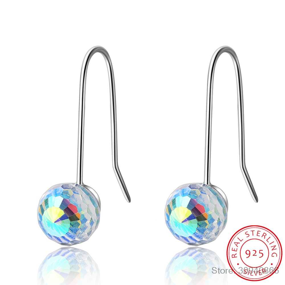 2019 New Earrings Crystal from Swarovski Wholesale Simple and stylish personality magic crystal ball earrings female