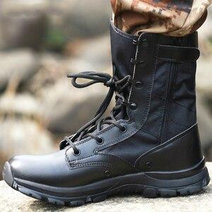 Image 3 - Outono ultra leve botas táticas masculinas forças especiais botas militares masculino ao ar livre à prova dwaterproof água antiderrapante caminhadas sapatos de viagem