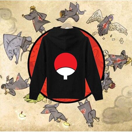 Free Shipping New Anime font b Naruto b font Uchiha Sasuke Sharingan Clothing Hooded Sweatshirt font