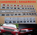 1pcs/set badge Letter emblem for Range rover Land rover car stickers  Decal Logo 3D Head Cover Letters  Emblem Sports Line