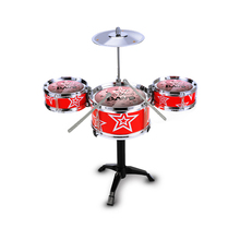 цена на Music Toys Sound Suit Musical Percussion Instrument Jazz Drums Set kit Children Simulation Drum Kit Toys Educational Classic-Toy