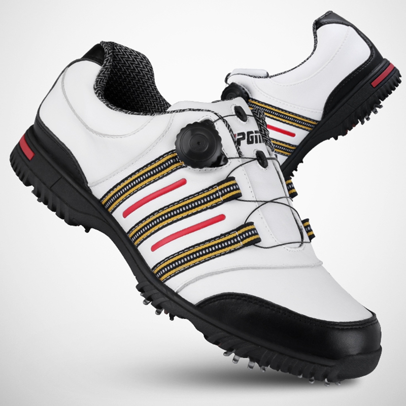 все цены на Brand PGM Genuine Leather and Microfiber Mens Tour 360 Boa Boost Waterproof Spiked Golf Sports Shoes Pro Tour Steady&Waterproof онлайн