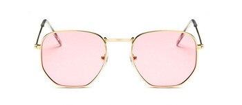 2021 Vintage Metal Women Sunglasses Luxury Brand Design Glasses Female Classic Driving Eyewear uv400 Oculos De Sol Masculino - C13