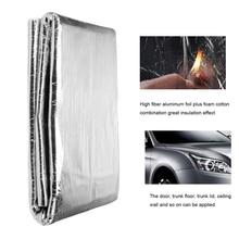 140cm X100cm Auto Car Truck Firewall Heat Sound Deadener Insulation Mat Noise Insulation Wool Car Styling