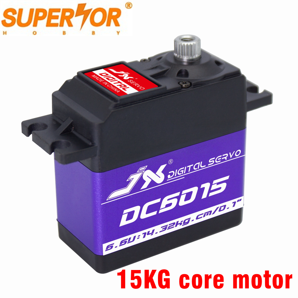 DC6015 JX Servo 15kg 0.1sec 6.6V Aluminium Shell Metal Gear Core Digital Standard For RC Plane Car Crawler  1/8 1/10 DS3325MG