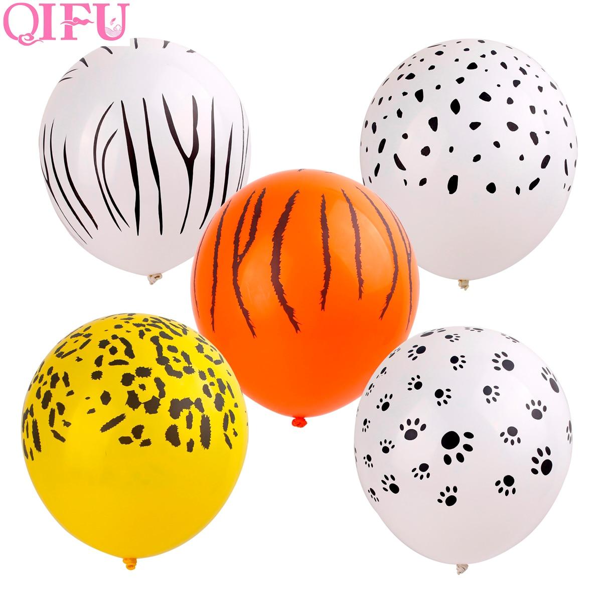 QIFU Latex Animal Balloons Birthday Jungle Party Safari Theme Baloon Decorations Kid