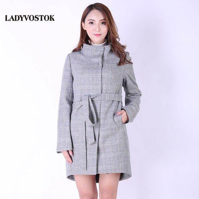Ледивосток Кашемир Демисезонное Шерстяное Женская пальто Европейский стиль куртка Весна мода Верхняя одежда 8896