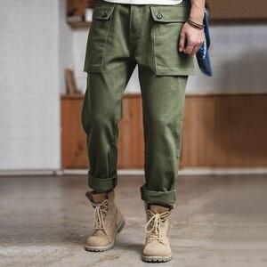 Image 4 - Maden hommes coupe décontractée jambe droite coton décontracté militaire Cargo pantalon de travail