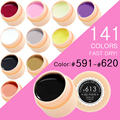 CANNI Nail Painting Gel Varnish 141 Pure Colors Gelpolish UV LED Soak Off Bling Gel Nail Polish Color(591-620)