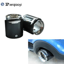 For Mini Cooper One JCW S F55 F56 Car Styling Accessories Carbon Fiber Stainless Steel Exhaust Pipes Muffler Tips Head Cover