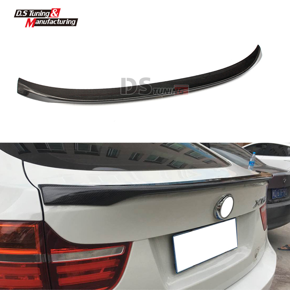 E71 Carbon Fiber Performance Style Boot Spoiler For BMW X6 E71 2009 - 2014 Trunk Wing x6 f16 m performance style frp primer auto car rear trunk spoiler wing for bmw x6 f16 2014 2016